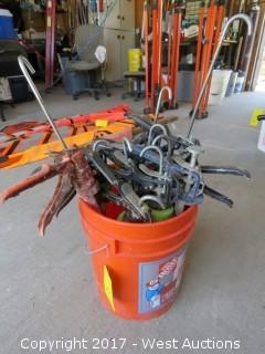 Bucket of (10) Caulking Guns