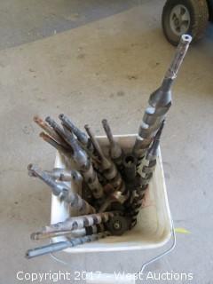 Bucket of Aprox. (17) Drill Bits
