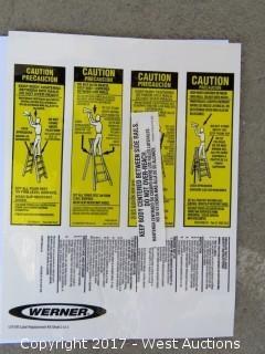 OSHA Ladder Certification Stickers