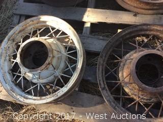 (4) Model A Wire Wheel Rims