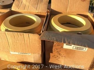 """(2) Boxes of 4 of House 10"""" Base Poly for Columns"""