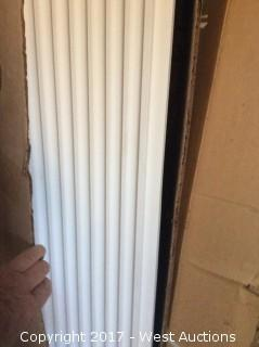 """1 Set Fluted Poly Cornices - 7 ½"""" x 8"""""""