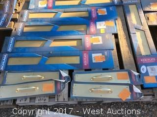 Pallet of 6 Kick Plates and 4 Handle Plates
