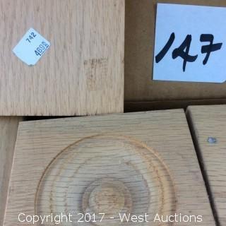 (56) Oak Corner Blocks