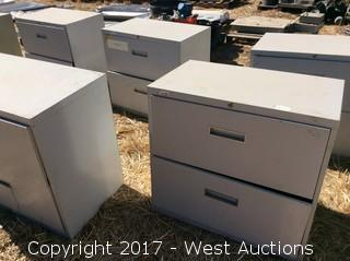 (6) Two Drawer Metal File Cabinets