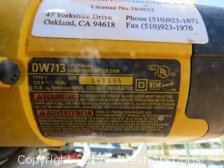 """DeWalt DW713 10"""" Compound Miter Saw"""