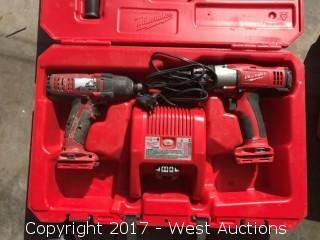 Milwaukee Drill and Driver Set with Charger (No batteries)