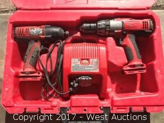 Milwaukee Drill and Hammer Driver with Charger