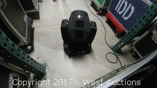 (2) 7r Beam Moving Head Lights in a Road Case
