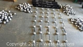 (5) Motion Orb Bars Each with 10' of LED Globes