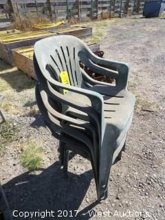 (5) Plastic Lawn Chairs