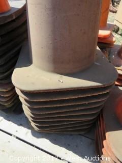 Stack of (10) Traffic Cones