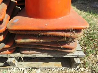 Stack of (6) Traffic Cones