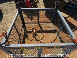 Construction Material Lift Basket w/ (1) Rigging Chain