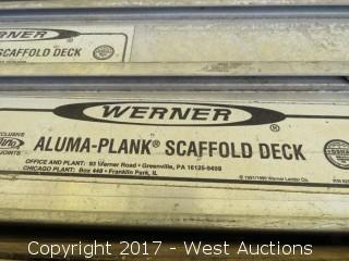 (1) Warner 10' Aluma-Plank Scaffold Deck