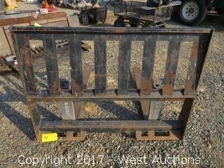 """Versatech 45.5"""" Skid Steer Pallet Fork Attachment"""