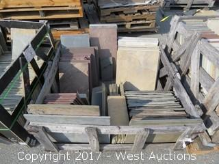 (1) Crate of Assorted Slate, Sandstone, Quartzite
