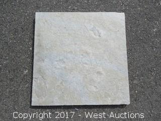 "(1) Crate of India White Mara Quartz Slate 16"" x 16"" Ungauged"