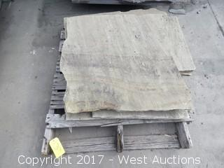 (1) Pallet of India Fossil Remnants