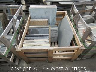 (1) Crate of Assorted Slate, Quartz, Sandstone