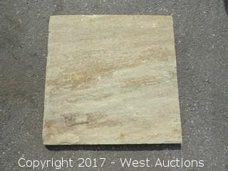 "(1) Crate of India Fossil Sandstone 16"" x 16"" Ungauged"