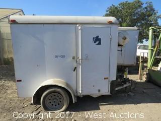 1998 CM Enclosed Trailer with Transfer Tank 8' x 5'