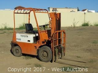 Toyota FG20 4,000 lb. Capacity Gasoline Forklift