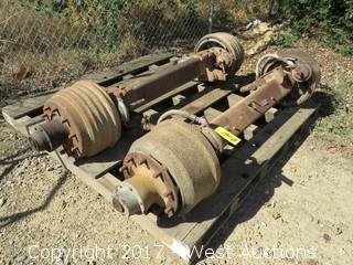 (2) Semi Tractor/Trailer Axles