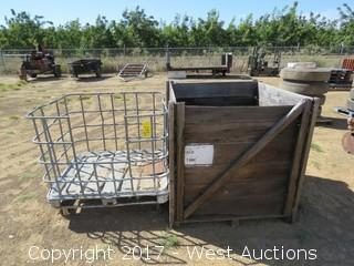 Tank Cart and Forkliftable Wood Storage Box