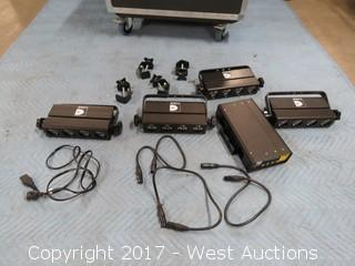 (1) Irradiant Controller Box with (4) Irradiant Stage Lights