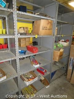 Bulk Lot: Contents of (6) Shelves: Screwdrivers, Wrench Sets,
