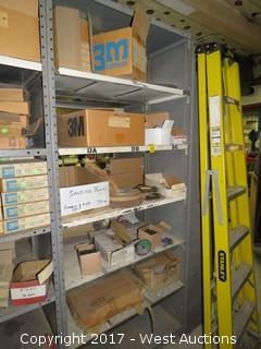 Bulk Lot: Contents of (6) Shelves: Sanding Blocks, Wrench Sets, Cutting Discs, Crimped Wire End Brushes,
