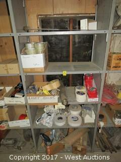 Bulk Lot: Contents of (5) Shelves: Package Tape, Duct Tape, Ford Logo Ovals and more