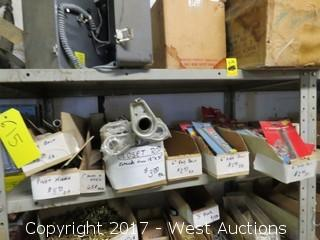Contents of Rack: Pivot Hinges, Closet Rods and Various Types of  Bolts