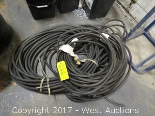 Bulk Lot: (2) Coils of Black Rubber Hose