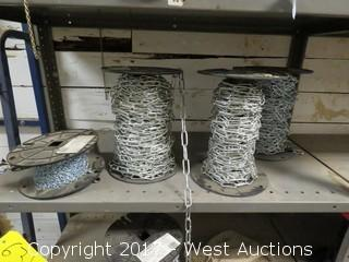 Bulk Lot: (4) Spools of Various Chain