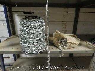 Bulk Lot: (1) Spool of Various Chain, (1) Bag with Chain
