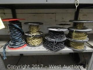 Bulk Lot: (8) Spools of Various Chain
