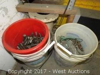 Bulk Lot: (1) Bucket Short J-Bolts, (1) Bucket Hex Bolts