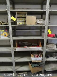 Contents of Rack: (6) Insulated Canteens, (8+) Canvas Pouches, (10+) Garden Tools, (10+) Door Pulls
