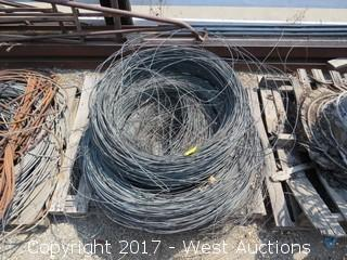 Pallet of Aprox. (3) Rolls of Steel Wire
