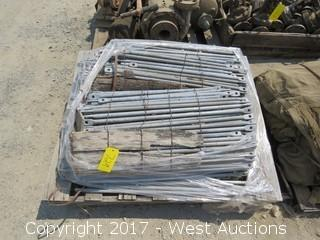 "Pallet with Bundles of 28"" Galvanized Steel Rods"