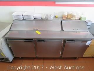Beverage-Air SP72-18 3-Door Refrigerated Food Prep Station