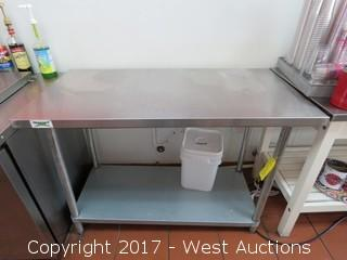 Stainless Steel Table 4' x 2' with Undershelf