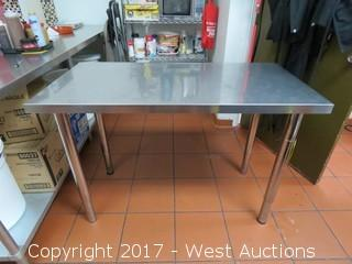 Stainless Steel Table 4'x2'