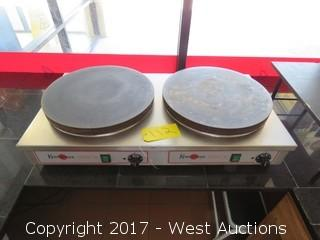 Krampouz Double Crepe Maker Griddle