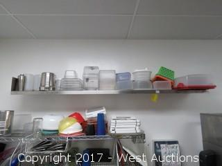 6' Stainless Shelf with Entire Contents of Dishware