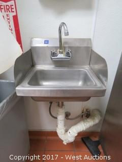 """17"""" Stainless Sink with Faucet"""