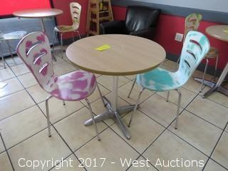 Round Bistro Table and (2) Chairs