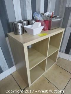 Cabinet with Silverware and Napkin Holders